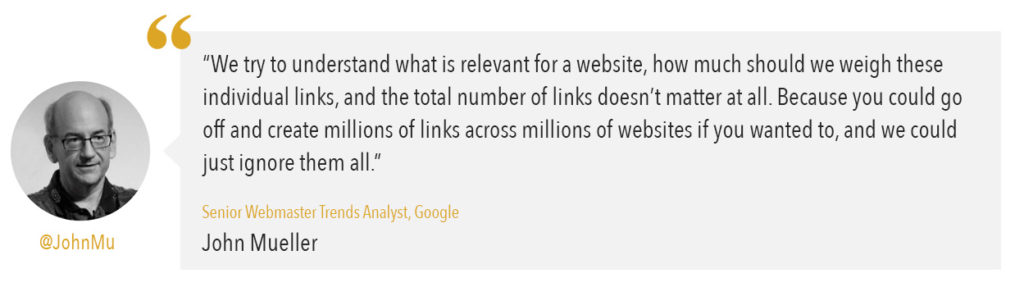 john mueller quote from Google